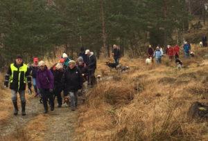 vandring i april 2016 på Almön Tjörnbro Camping (foto: Gösta Spjuth)